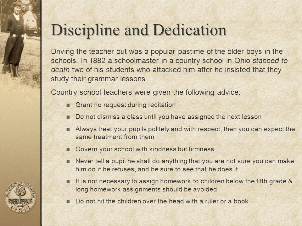 Discipline and Dedication