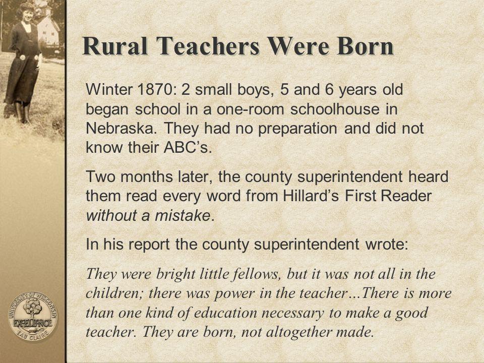 Rural Teachers Were Born