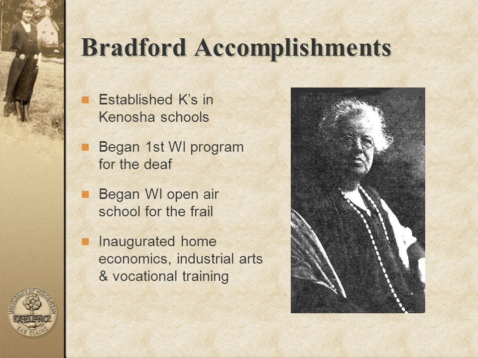Bradford Accomplishments