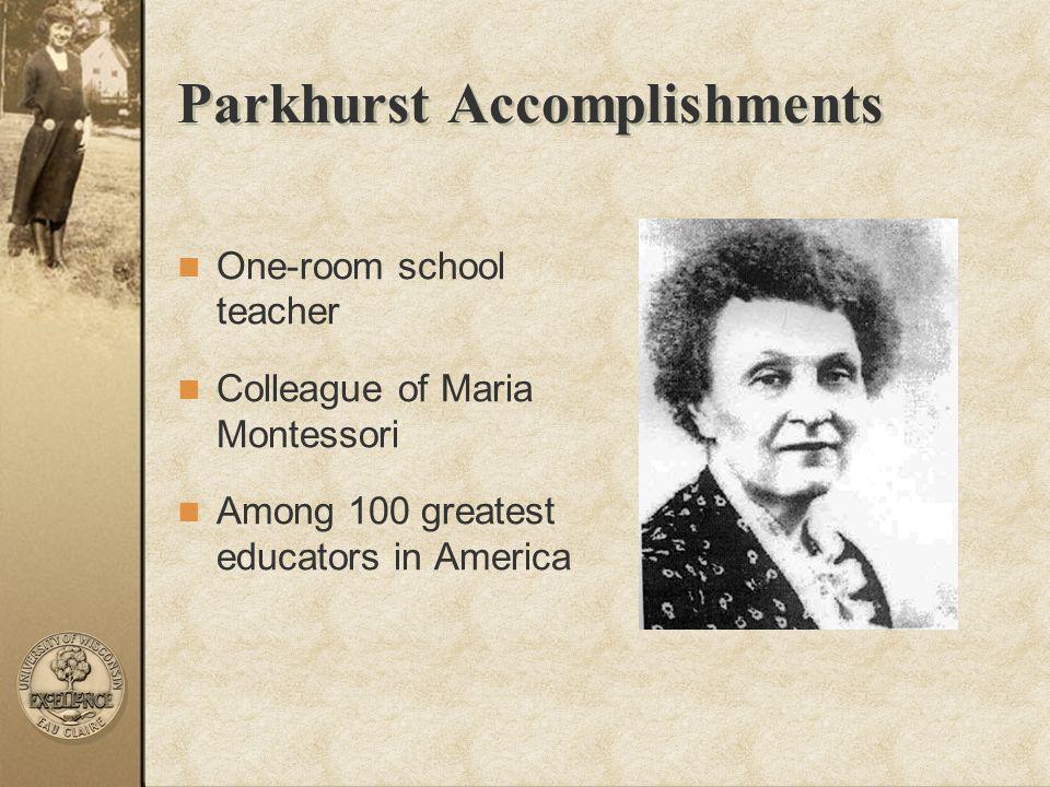 Parkhurst Accomplishments