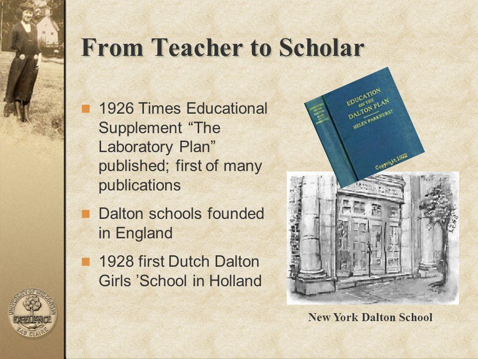 From Teacher to Scholar