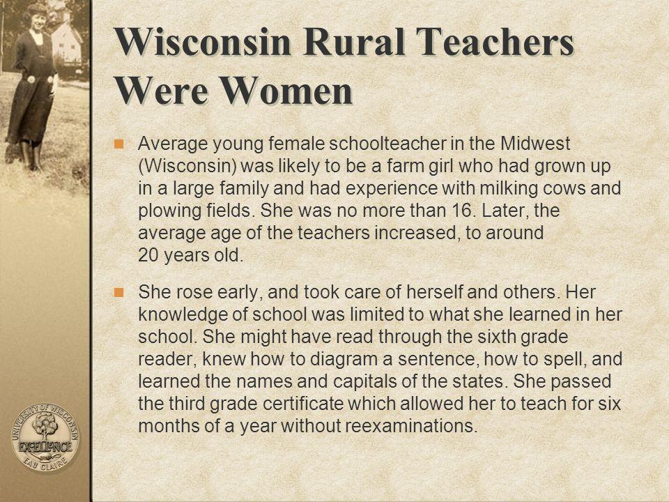 Wisconsin Rural Teachers Were Women