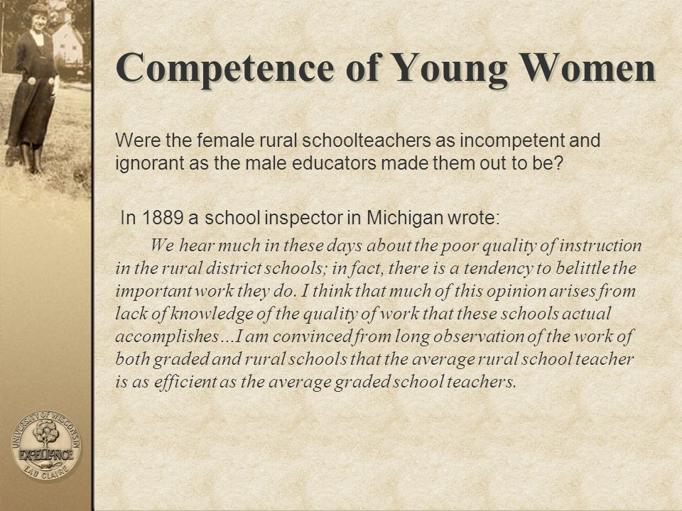 Competence of Young Women