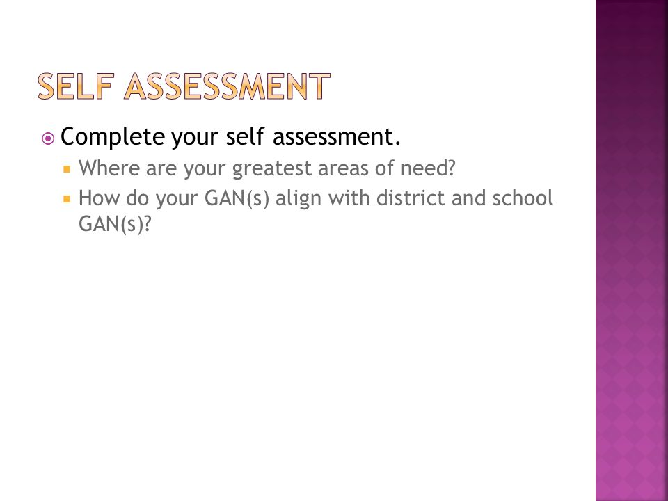 Self assessment Complete your self assessment.