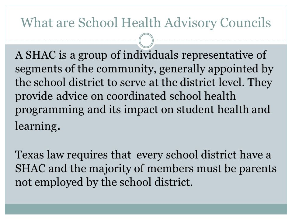 What are School Health Advisory Councils
