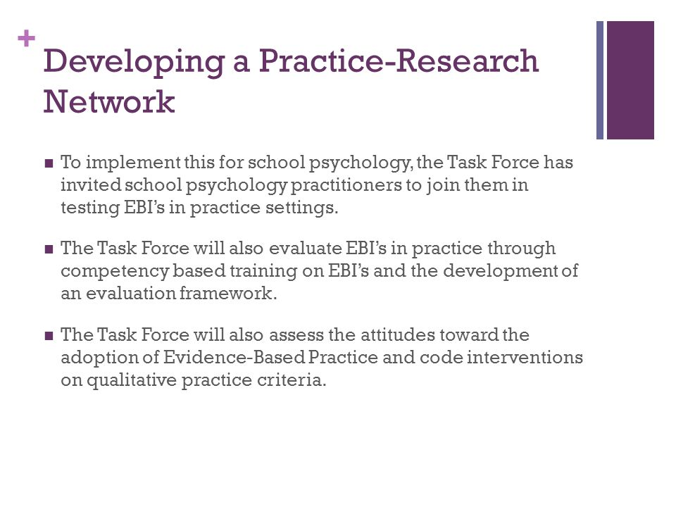 Developing a Practice-Research Network
