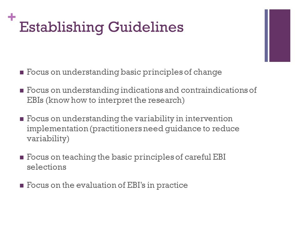Establishing Guidelines