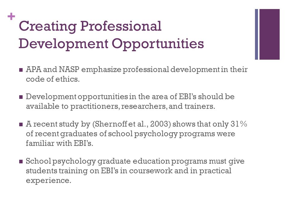 Creating Professional Development Opportunities