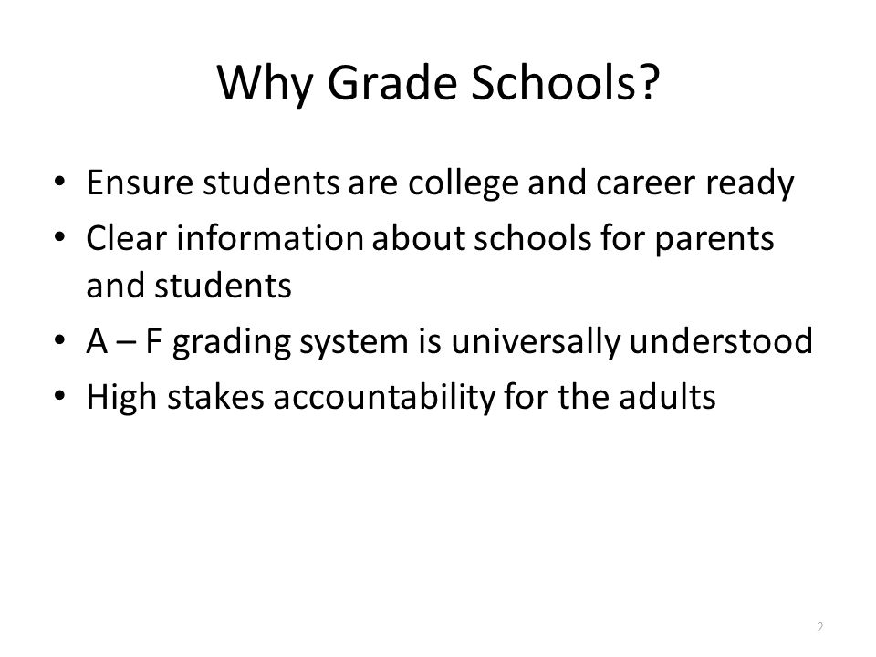 Why Grade Schools Ensure students are college and career ready