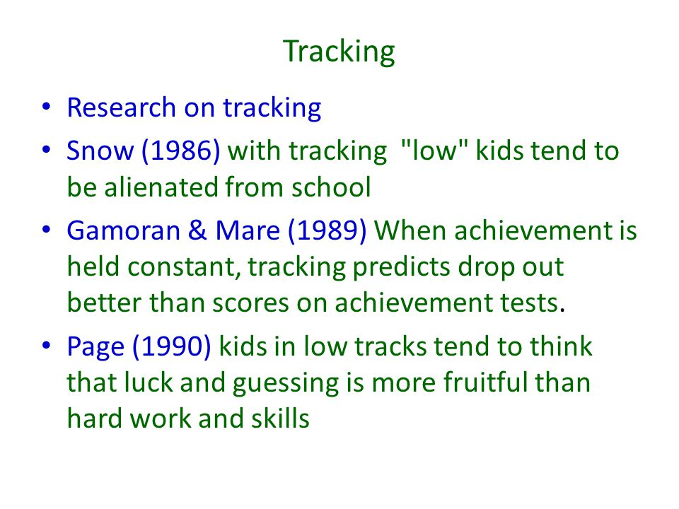 Tracking Research on tracking