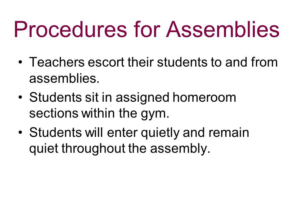 Procedures for Assemblies