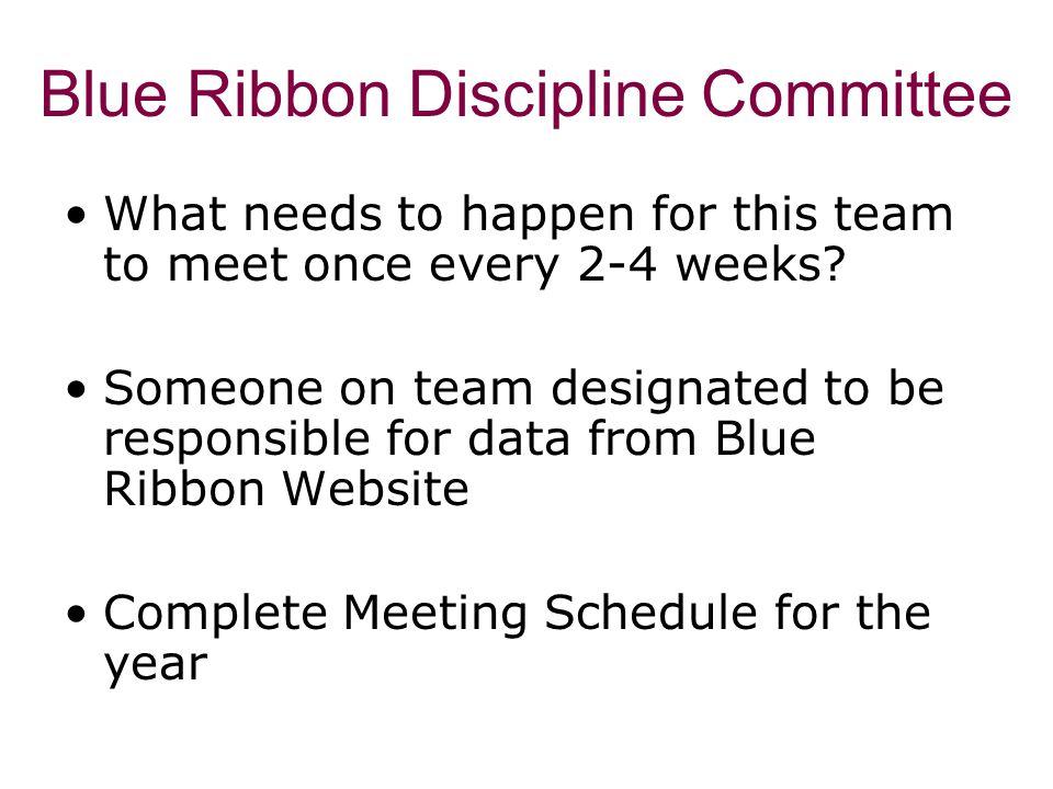 Blue Ribbon Discipline Committee