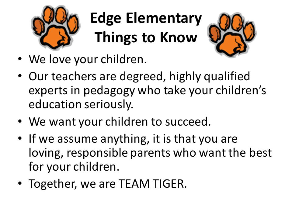 Edge Elementary Things to Know