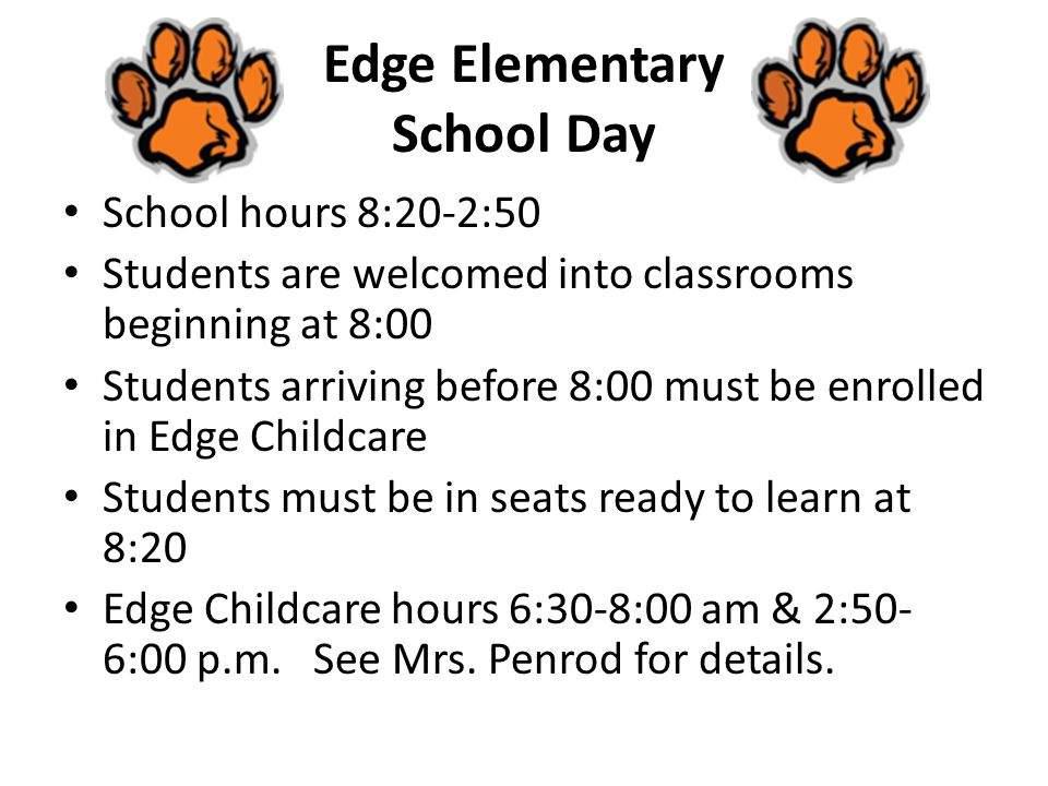 Edge Elementary School Day