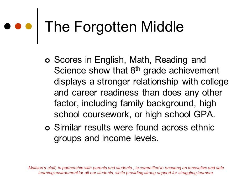 The Forgotten Middle