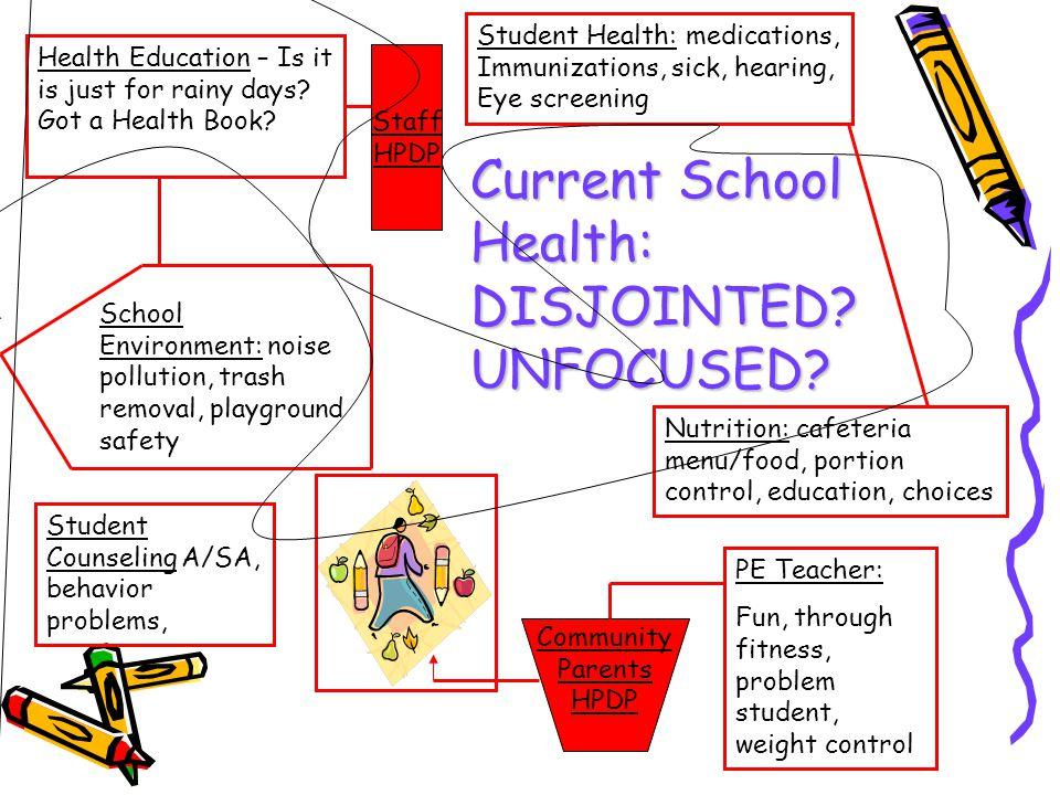 Current School Health: DISJOINTED UNFOCUSED