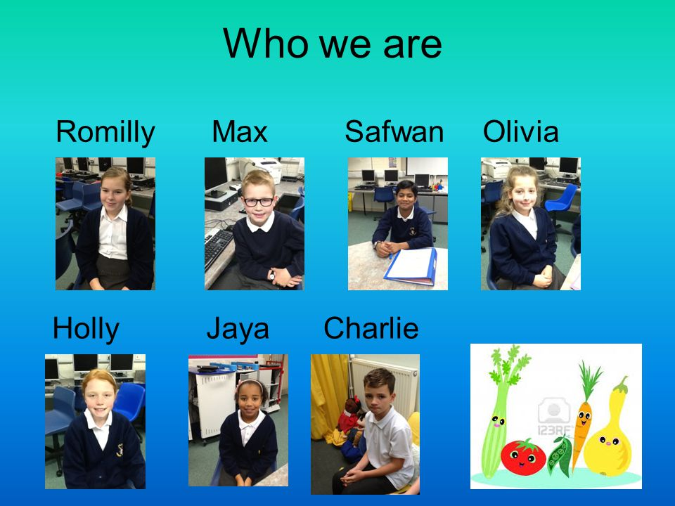 Who we are Romilly Max Safwan Olivia Holly Jaya Charlie