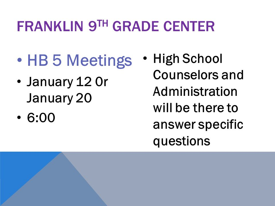 Franklin 9th Grade Center