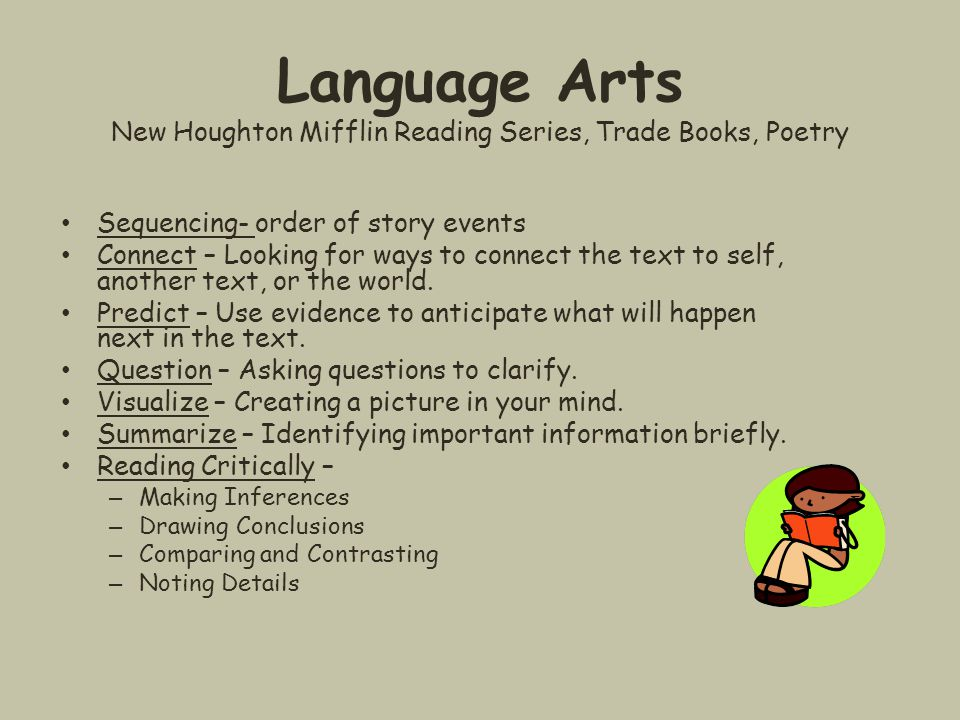 Language Arts New Houghton Mifflin Reading Series, Trade Books, Poetry