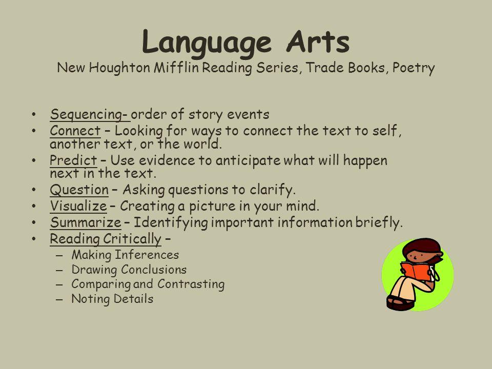 Language Arts New Houghton Mifflin Reading Series, Trade Books, Poetry
