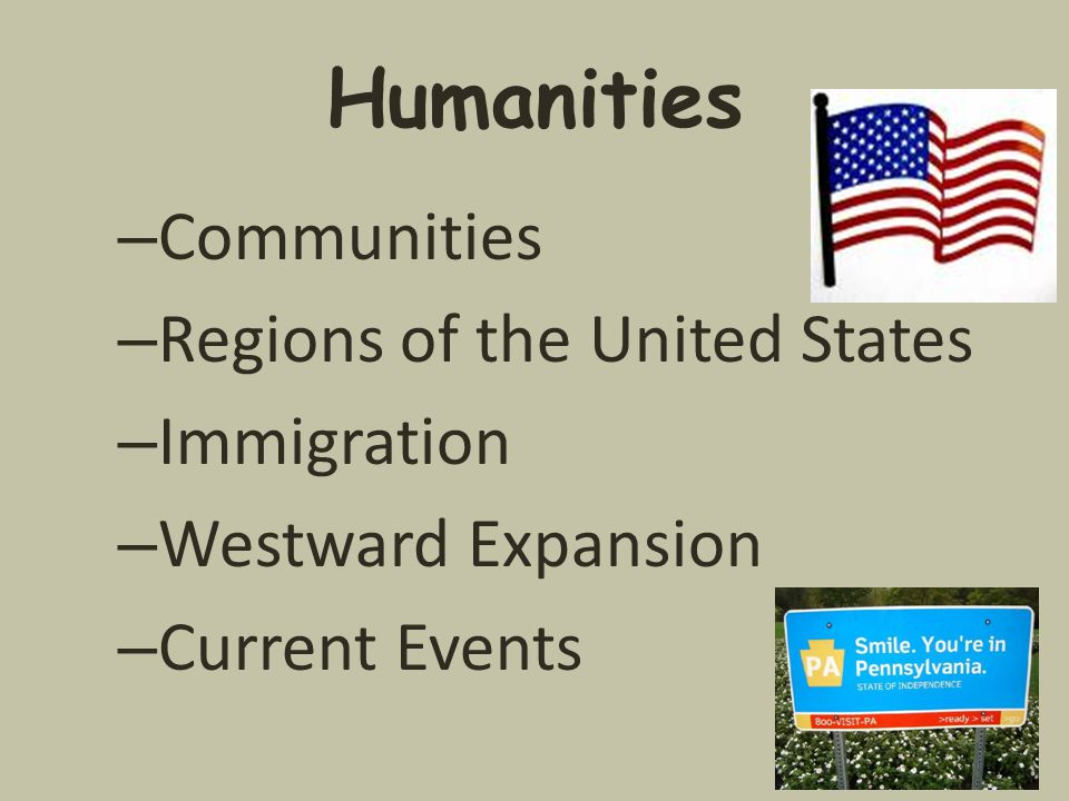 Humanities Communities Regions of the United States Immigration