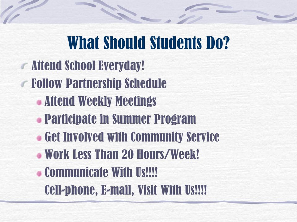 What Should Students Do
