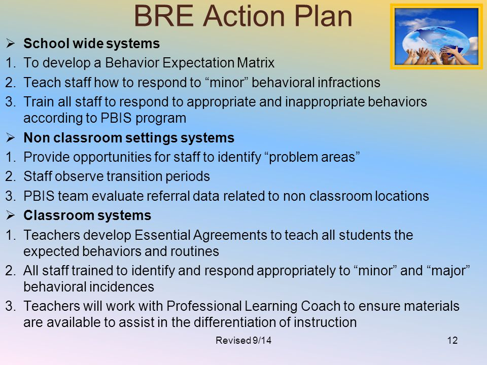 BRE Action Plan School wide systems
