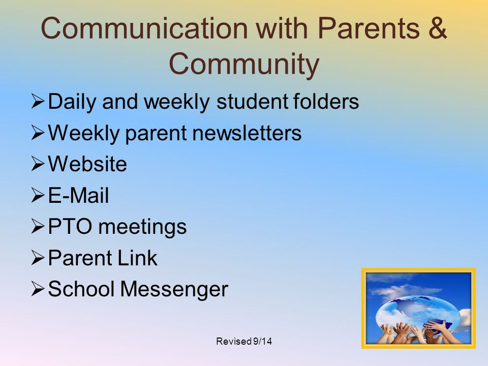 Communication with Parents & Community