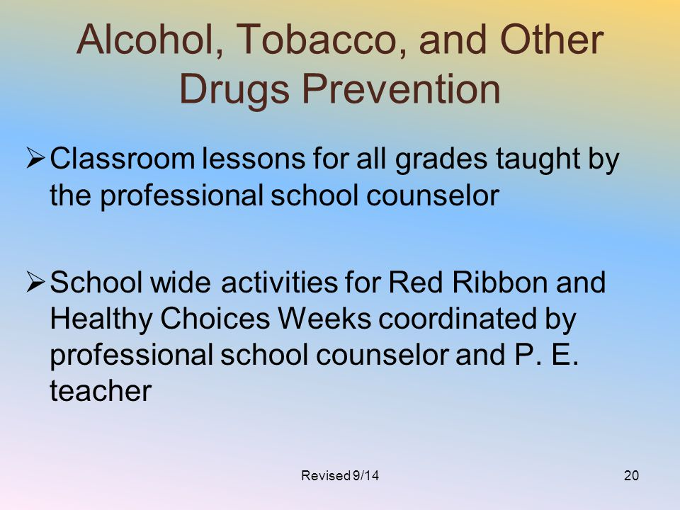 Alcohol, Tobacco, and Other Drugs Prevention