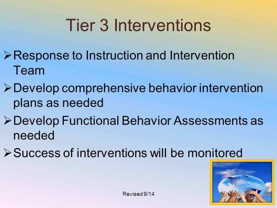 Tier 3 Interventions Response to Instruction and Intervention Team