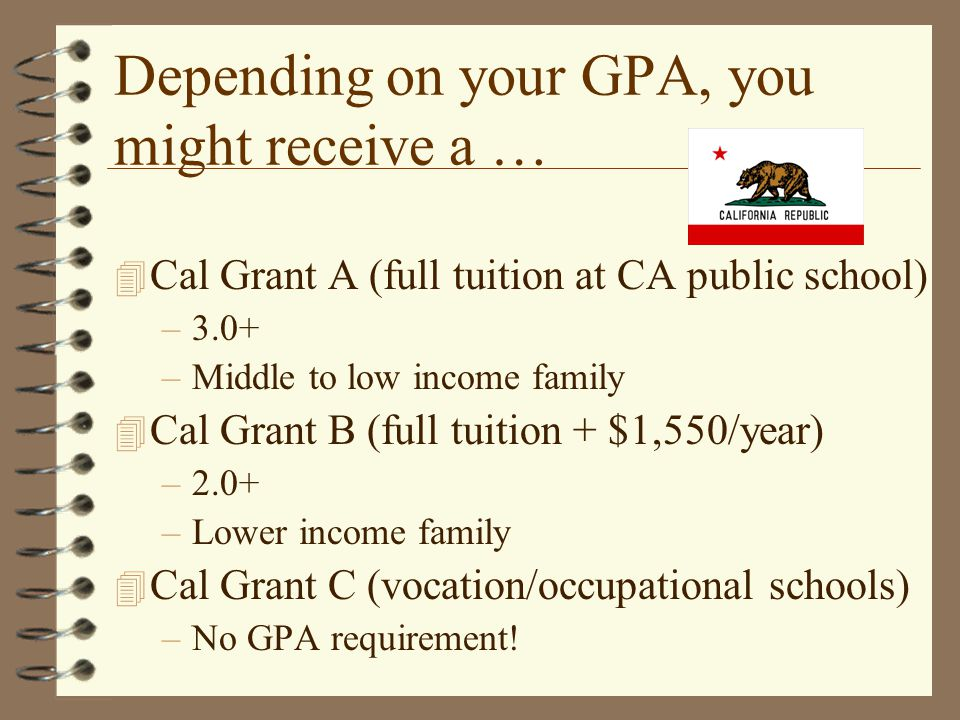Depending on your GPA, you might receive a …