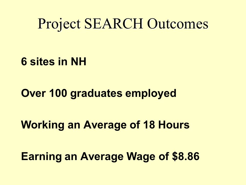Project SEARCH Outcomes