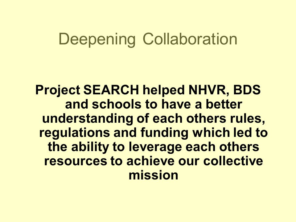 Deepening Collaboration