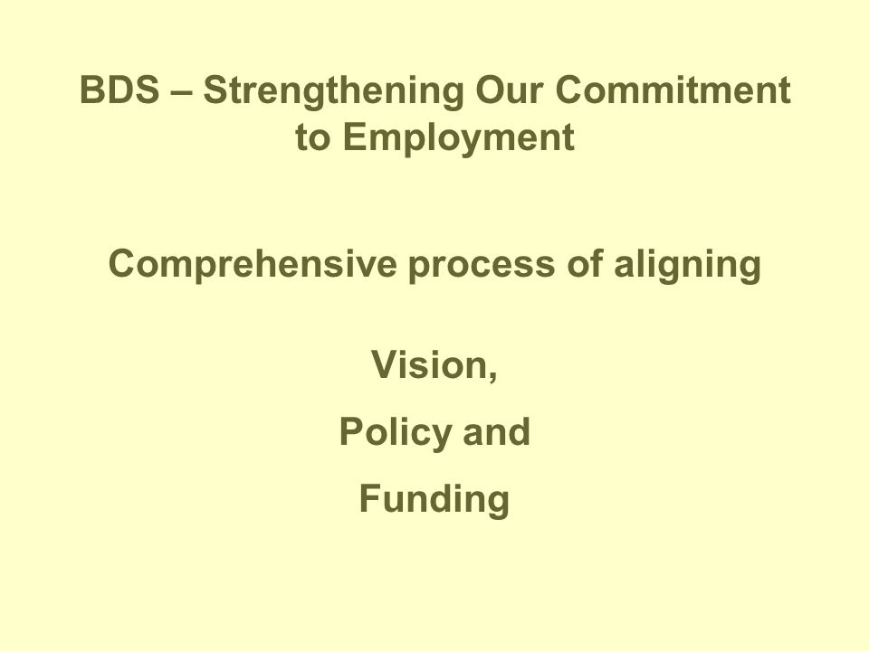 BDS – Strengthening Our Commitment to Employment