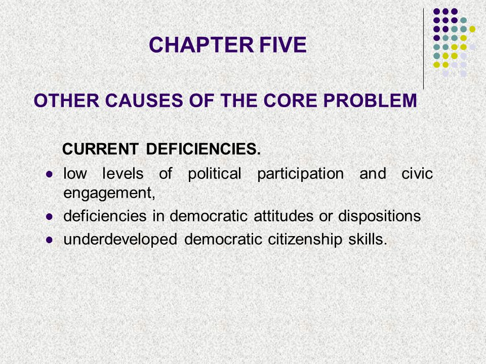 OTHER CAUSES OF THE CORE PROBLEM