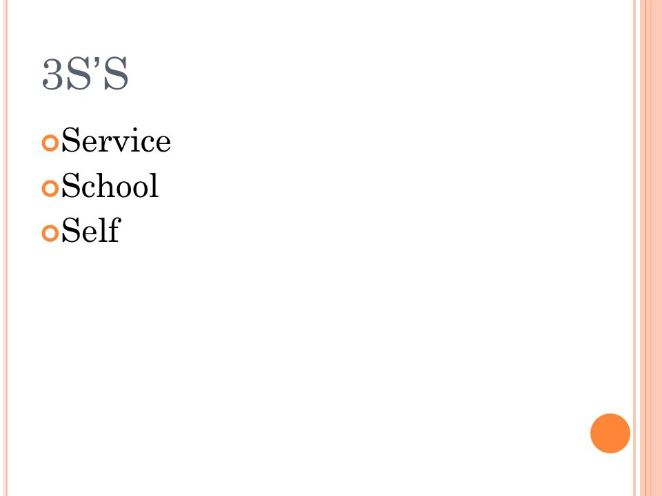 3S'S Service School Self
