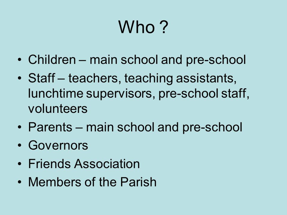 Who Children – main school and pre-school