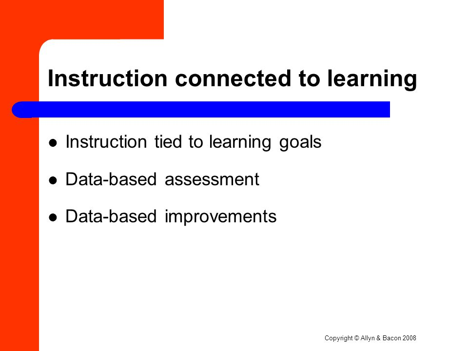 Instruction connected to learning