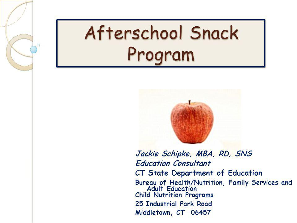 Afterschool Snack Program