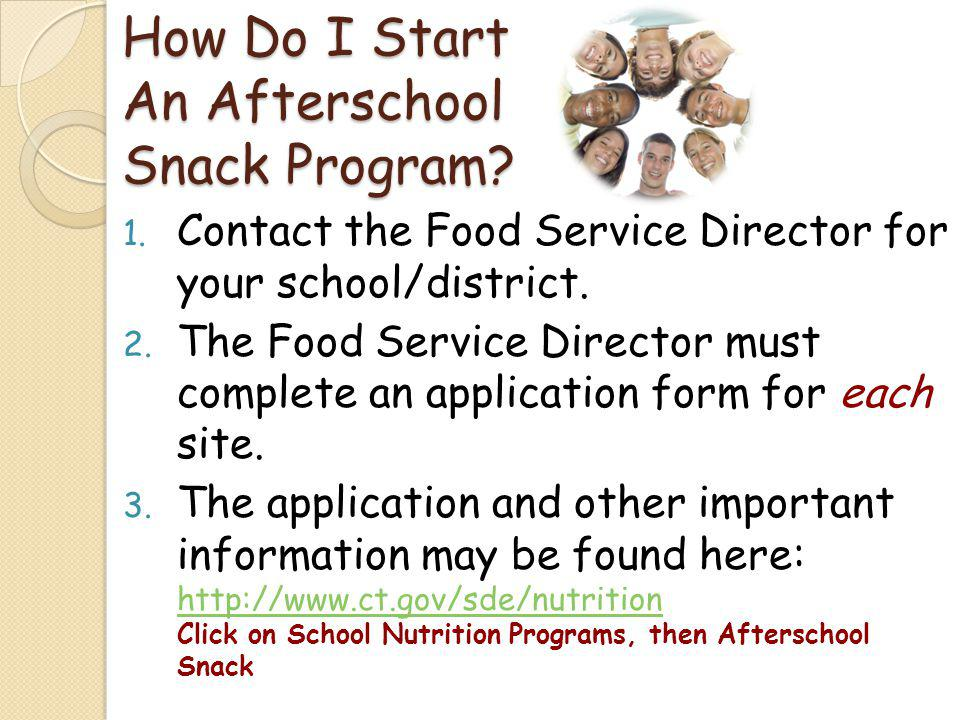 How Do I Start An Afterschool Snack Program