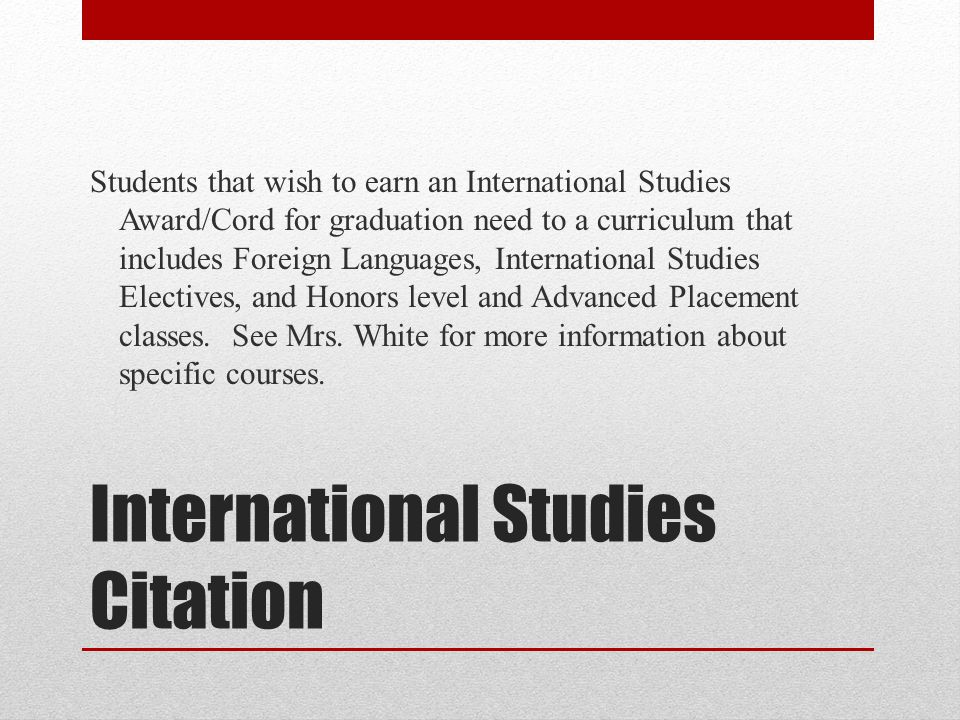 International Studies Citation
