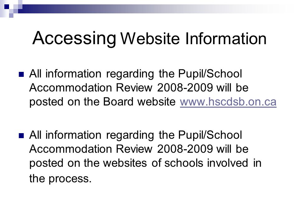 Accessing Website Information