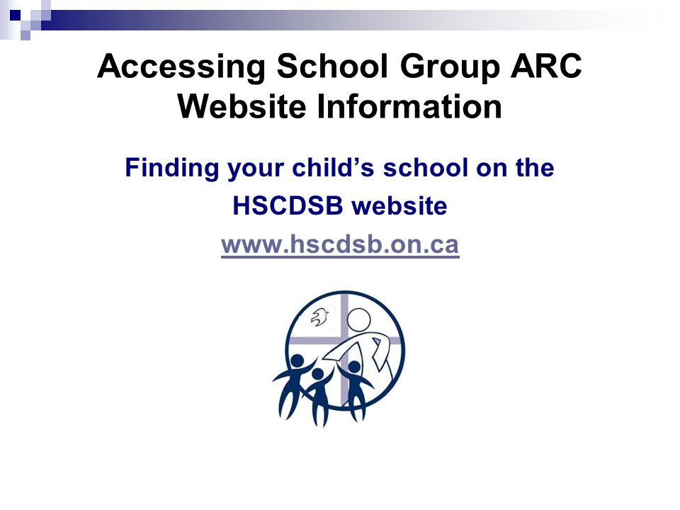 Accessing School Group ARC Website Information