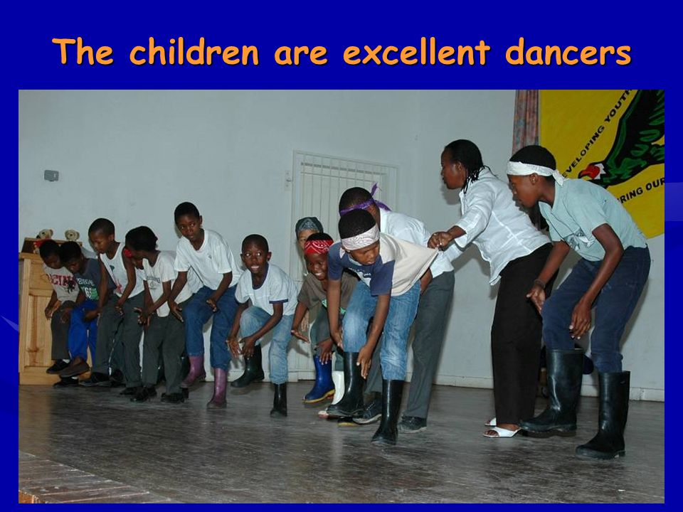 The children are excellent dancers