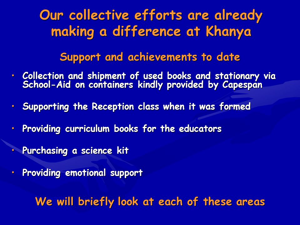 Our collective efforts are already making a difference at Khanya