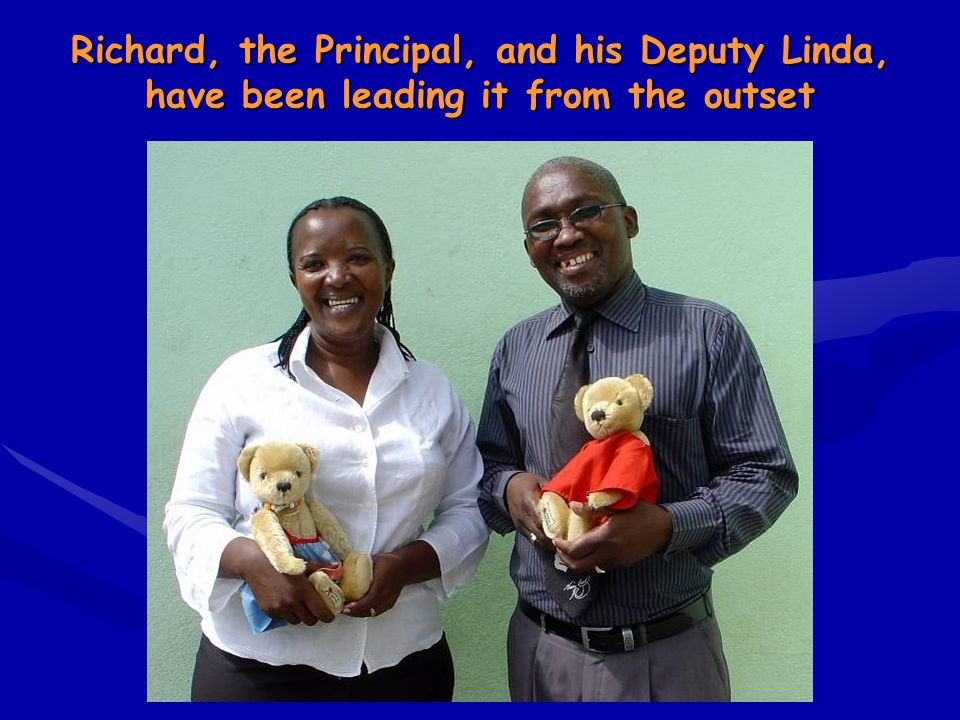 Richard, the Principal, and his Deputy Linda, have been leading it from the outset
