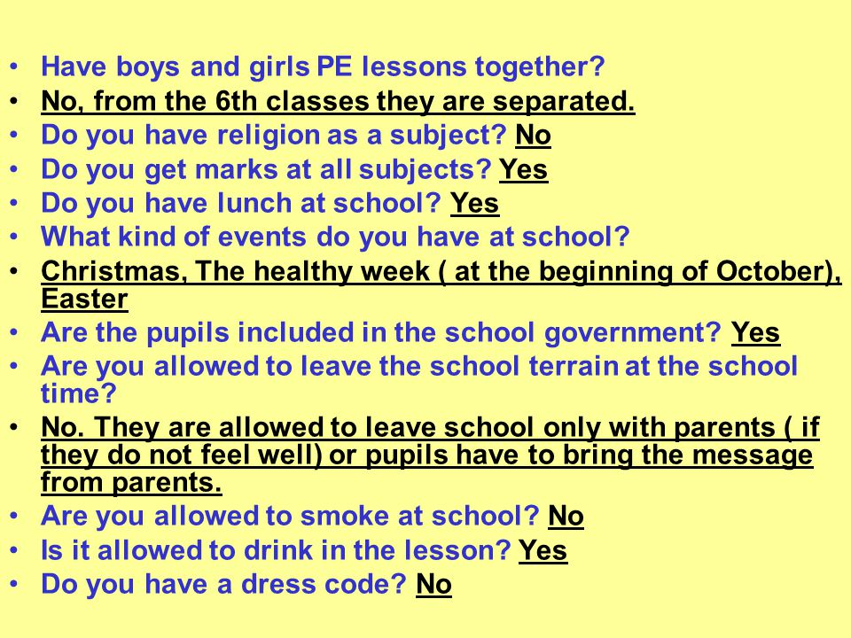 Have boys and girls PE lessons together