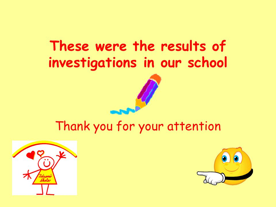 These were the results of investigations in our school