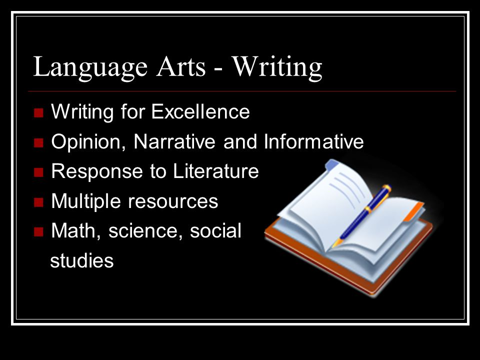 Language Arts - Writing