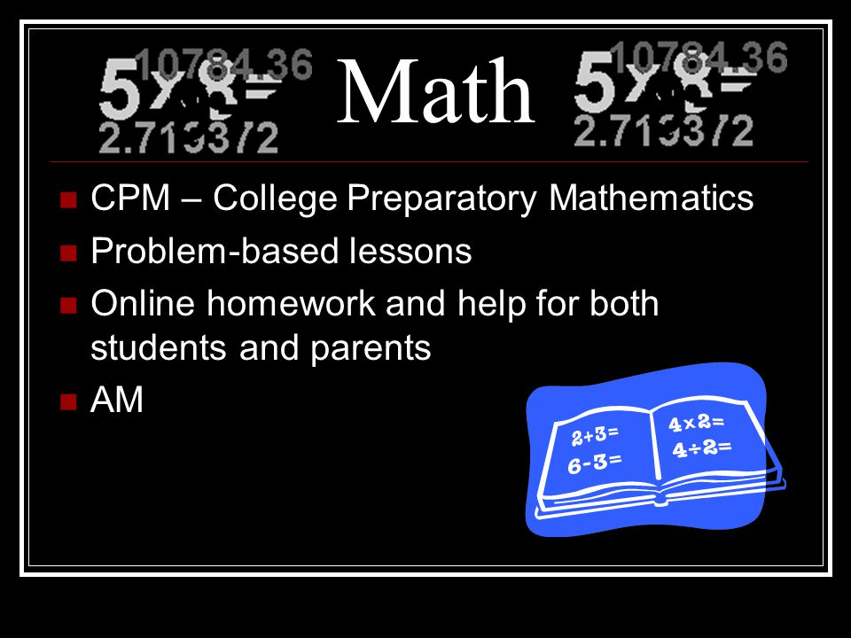 Math CPM – College Preparatory Mathematics Problem-based lessons